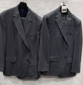 3 X BRAND NEW LUTWYCHE 2 PC GREY SHADES MATCHING SUITS SIZES 42R, 52R, 46R (NOTE NOT FULLY