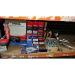 LARGE QUANTITY ASSORTED LOT CONTAINING VARIOUS BOXES OF SCREWS AND BOLTS, SOUDAL EXPANDING FOAM,