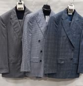 3 X BRAND NEW LUTWYCHE 2 PC COLOURED SUITS SIZES 40R, 48R, 44R (NOTE NOT FULLY TAILORED)