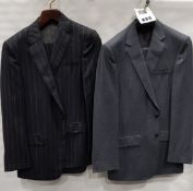 3 X BRAND NEW LUTWYCHE 2 PC GREY SHADES MATCHING SUITS SIZES 44R, 42R, 40R (NOTE NOT FULLY
