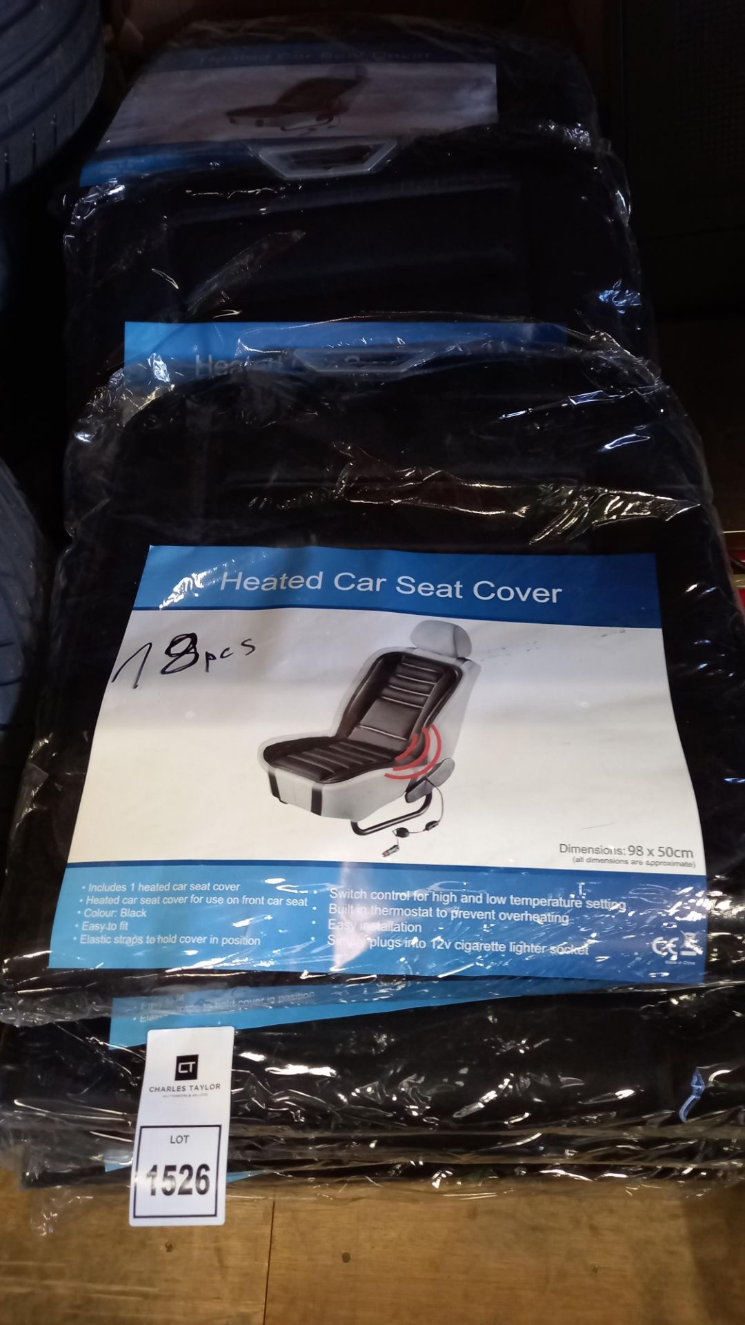 18 X BRAND NEW HEATED CAR SEAT COVER (98 X 50CM)