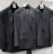 3 X BRAND NEW LUTWYCHE 2 PC GREY SHADES MATCHING SUITS SIZES 48R, 38, 38R (NOTE NOT FULLY TAILORED)