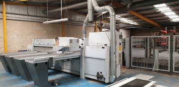 Holzma Optimat HPL 11/43/22 beam saw. Serial No. C-240-06-5696. Year of Manufacture 2003. With 4