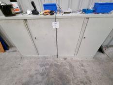 2 - metal storage cabinets