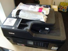 A Brother MFC-J6530DW multi function printer with spare ink cartridges as lotted