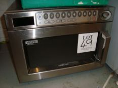 A Samsung CM1929 stainless steel microwave oven
