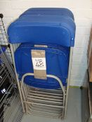 Ten quantity of folding chairs, as lotted