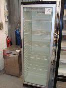 A Vestfrost FXG371 single door full height display fridge. Serial No. 2011 3435892