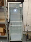 A Tefcold FS1380 full height single door display fridge