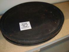 Eight large servery trays