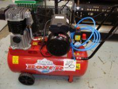 A Clarke Boxer mobile receiver mounted air compressor