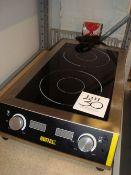 A Buffalo counter top twin electric hot plate