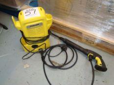 A Karcher K2 pressure washer