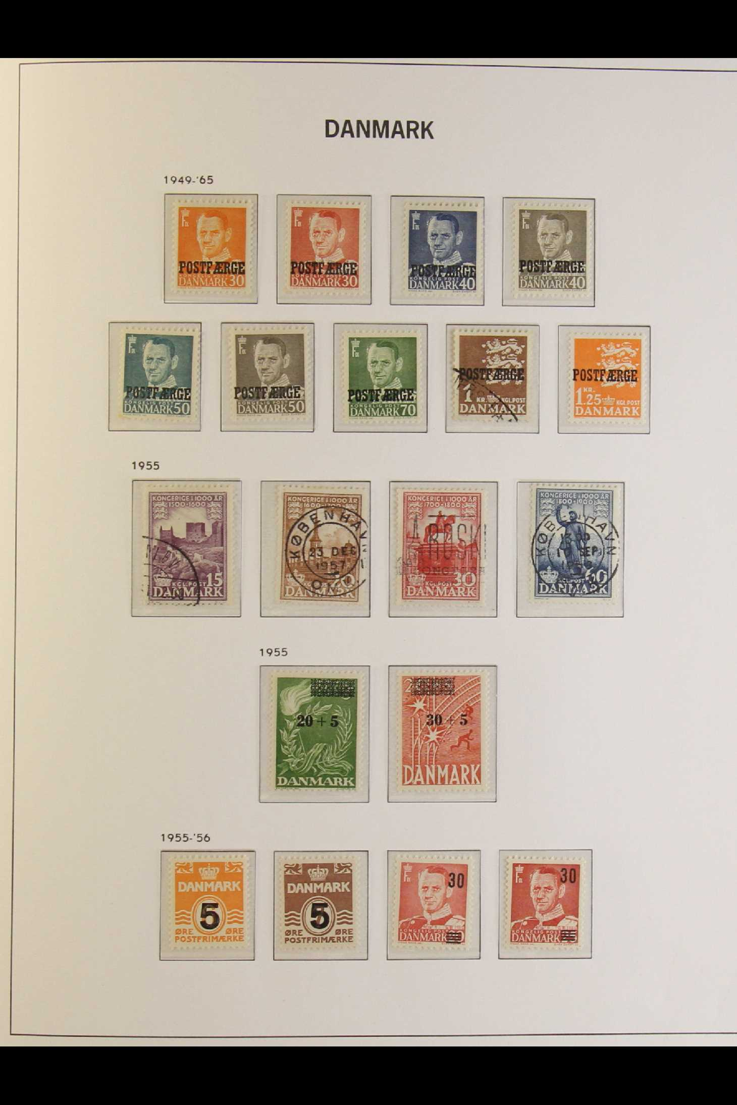 DENMARK 1882-1969 mint and used collection in an album incl. 1882 (small corner figures) 5 ore and - Image 10 of 15