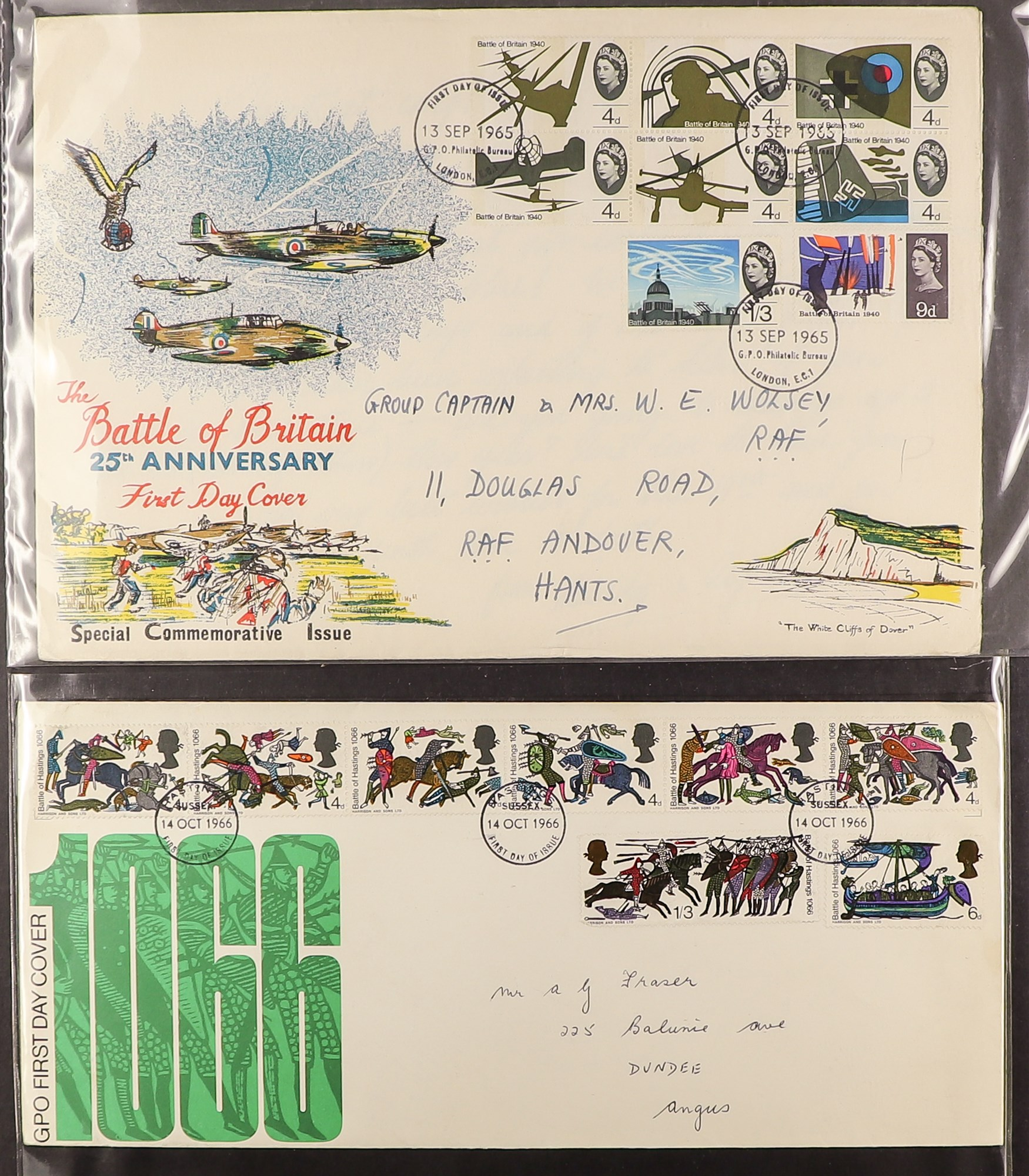 GB.FIRST DAY COVERS 1953 - 1969 COLLECTION includes 1953 Coronation (x2), 1957 Scouts with Sutton