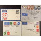 NIGERIA 1936 FLIGHT COVERS with (9 Feb) England - Kano, (16 Oct) London - Lagos via Khartoum, (22