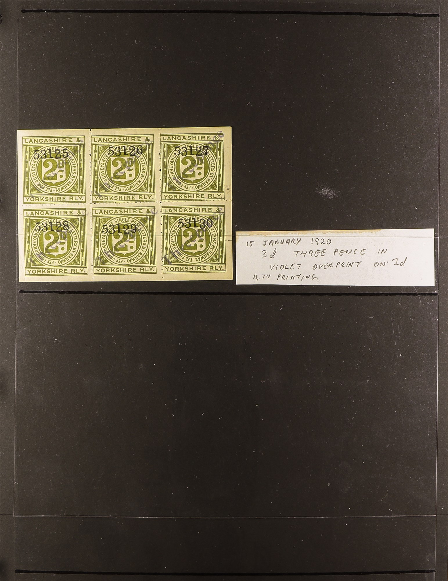 GREAT BRITAIN RAILWAY LETTER AND NEWSPAPER STAMPS 1890's-1940's COLLECTION in two albums, mint and - Image 8 of 24
