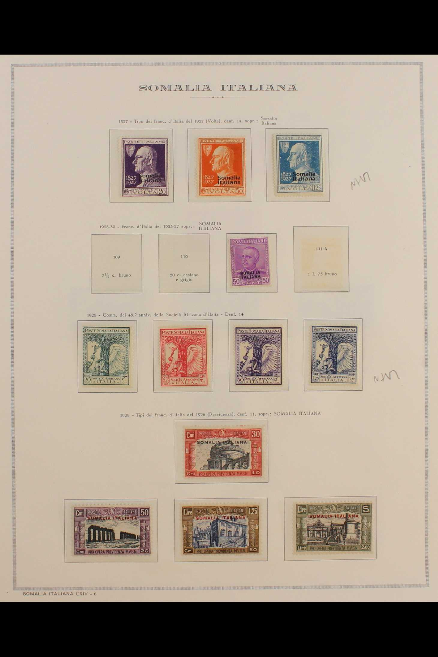 ITALIAN COLONIES SOMALIA 1922-1940 fine mint collection incl.1922 surcharged set, 1923 Fide set NHM, - Image 8 of 18