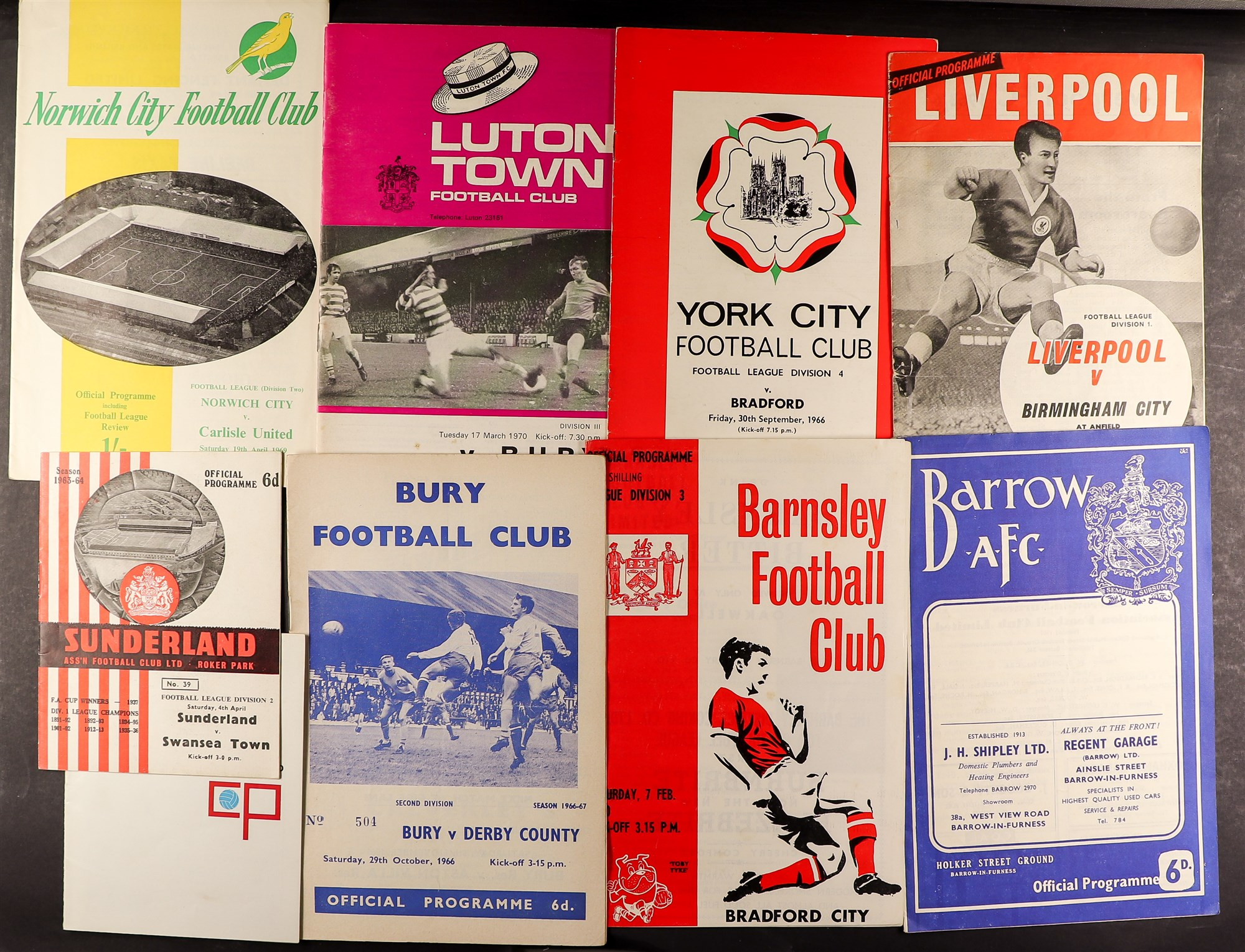 FOOTBALL PROGRAMMES - 1960's SELECTION. A range of clubs with a stronger representation of Everton,