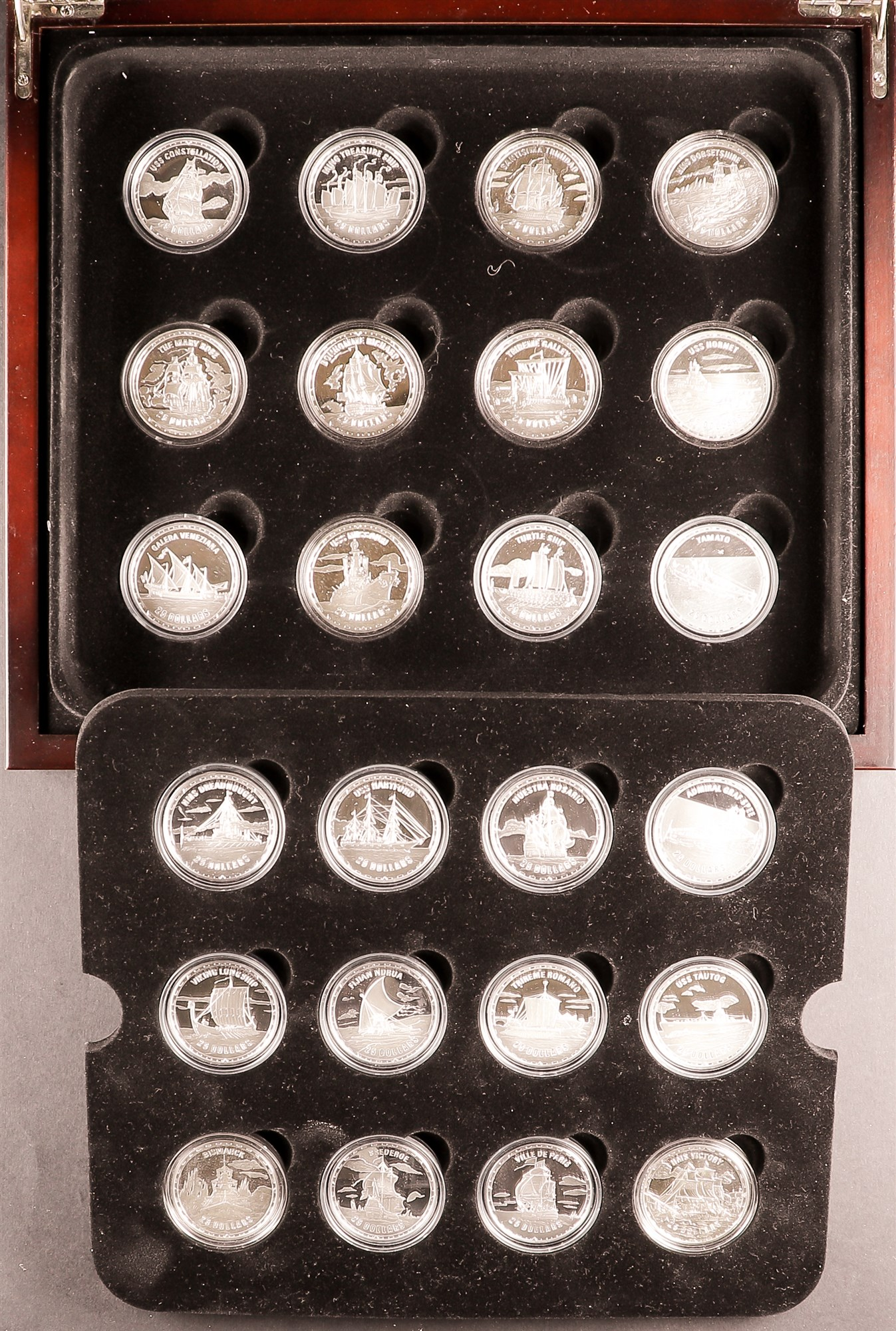 2005 SILVER PROOF COIN COLLECTION A complete collection of Solomon Island - SILVER PROOF 1oz coins,