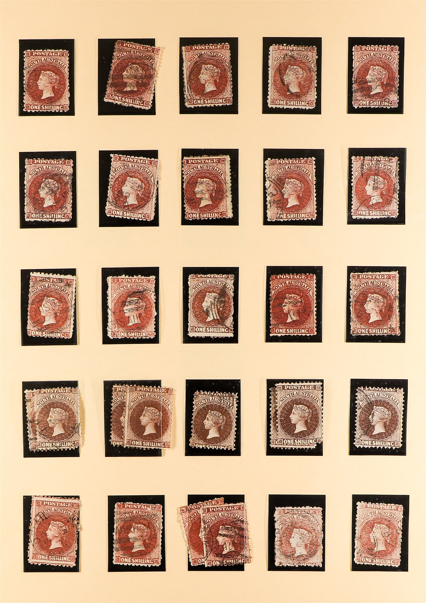 AUSTRALIAN STATES SOUTH AUSTRALIA 1858-1912 mainly used collection incl.1858-9 First Roulettes all - Image 7 of 10