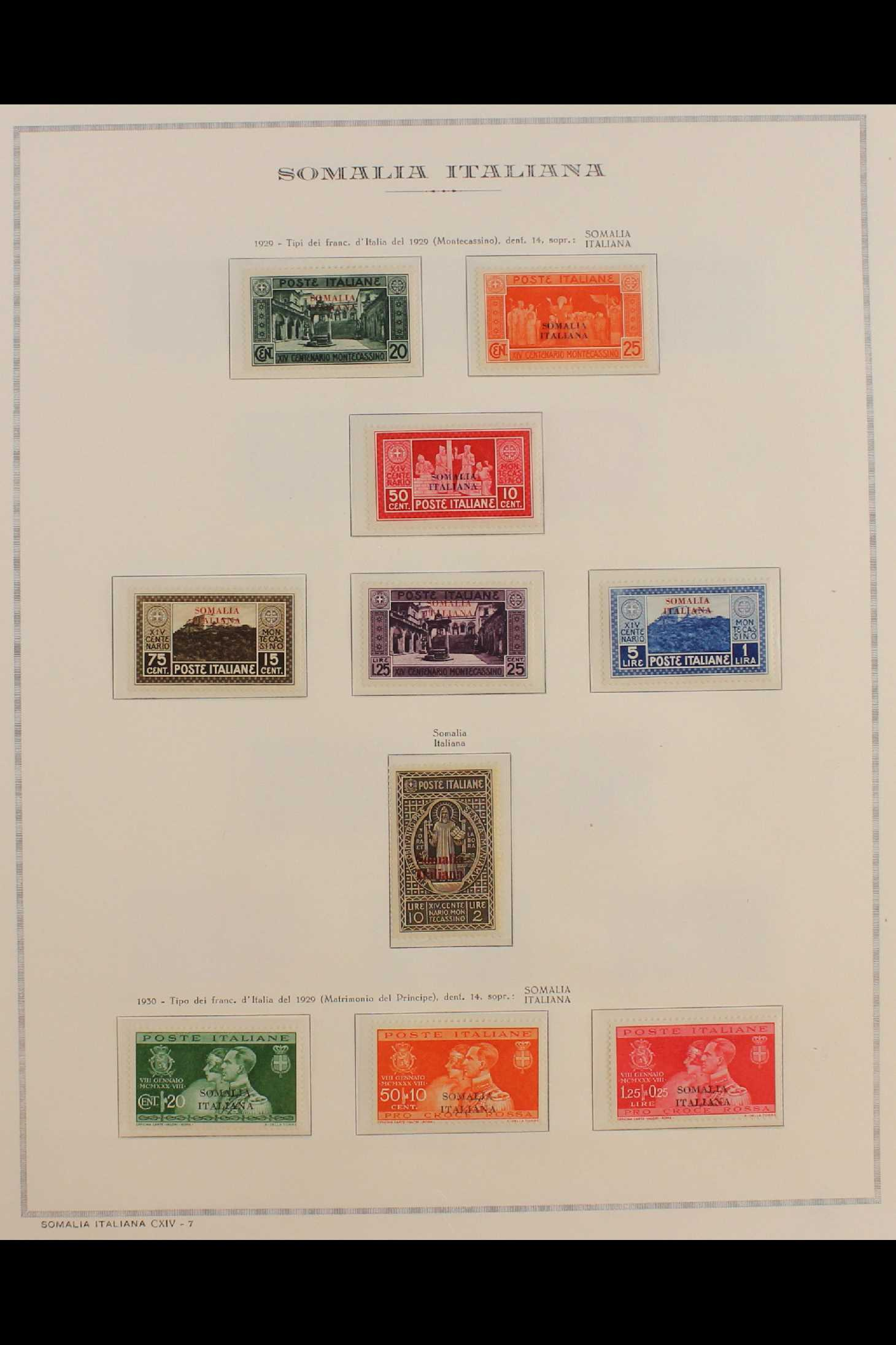 ITALIAN COLONIES SOMALIA 1922-1940 fine mint collection incl.1922 surcharged set, 1923 Fide set NHM, - Image 9 of 18