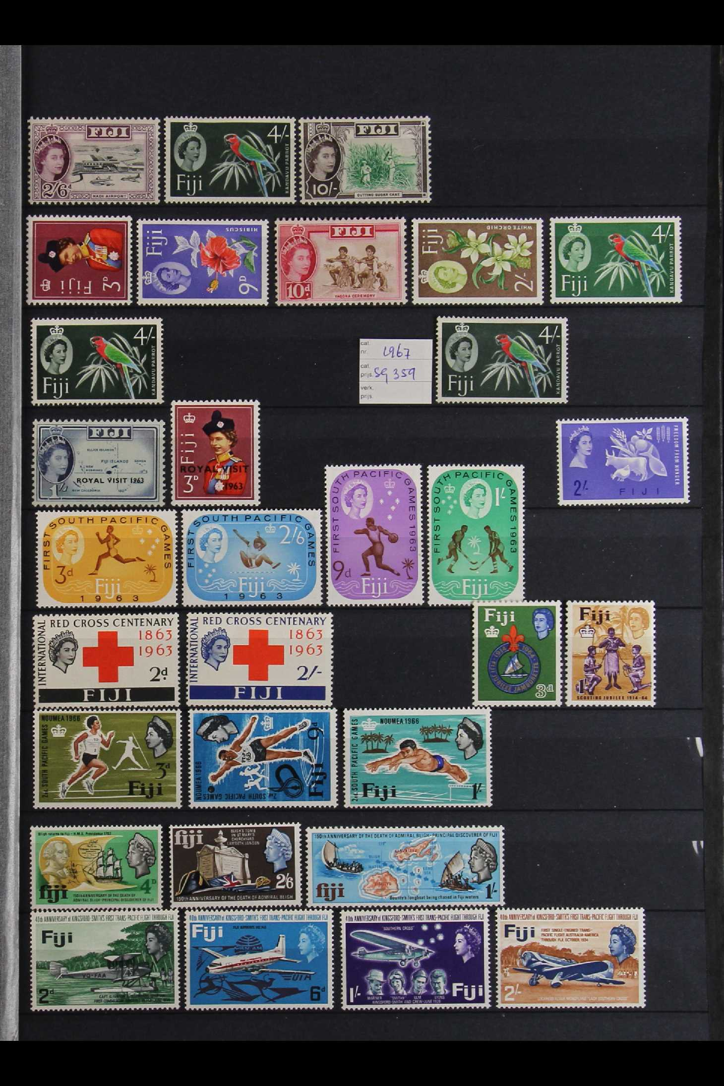 FIJI 1903-70 FINE MINT COLLECTION incl. 1903 set to 5d (excl. ½d), 1904-09 ½d & 1d, 1906-12 to 2½ - Image 6 of 9
