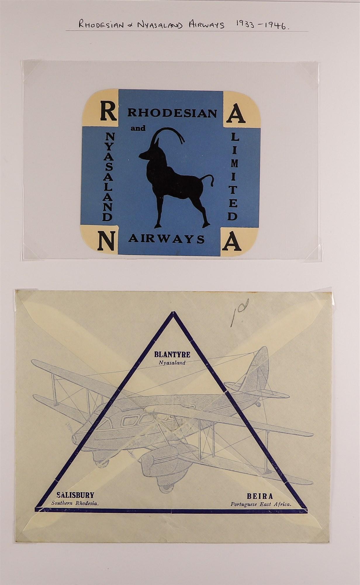RHODESIA AIRMAIL COVERS COLLECTION 1930's-60's with Rhodesian & Nyasaland Airways (15), Nyasaland- - Image 10 of 10
