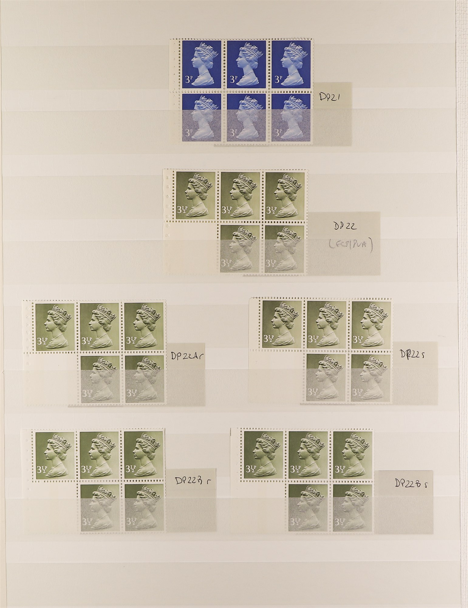 GB.ELIZABETH II MACHIN STITCHED BOOKLET PANES all different and with generally good perfs. (48 - Image 2 of 4