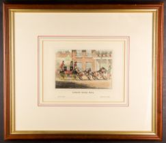 """MAIL COACH ENGRAVINGS attractive 1829-31 hand tinted editions, with """"The Blenheim leaving the Star"""