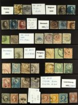 COLLECTIONS & ACCUMULATIONS EUROPEAN 1850-71 USED CLASSICS attractive range of generally clean