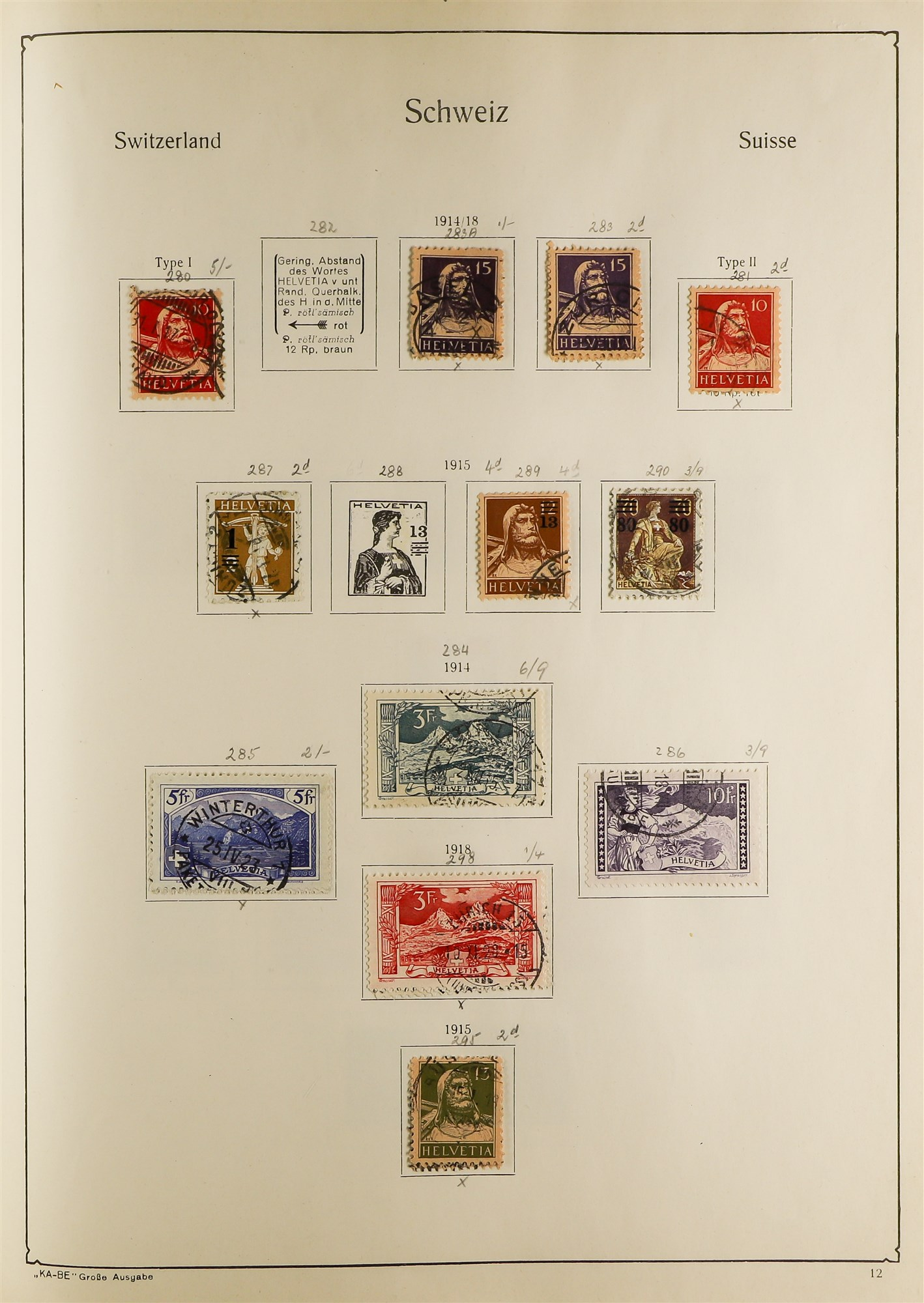 COLLECTIONS & ACCUMULATIONS FRANCE, GERMANY, SWITZERLAND IN TWO LARGE KA-BE ALBUMS with useful - Image 6 of 12