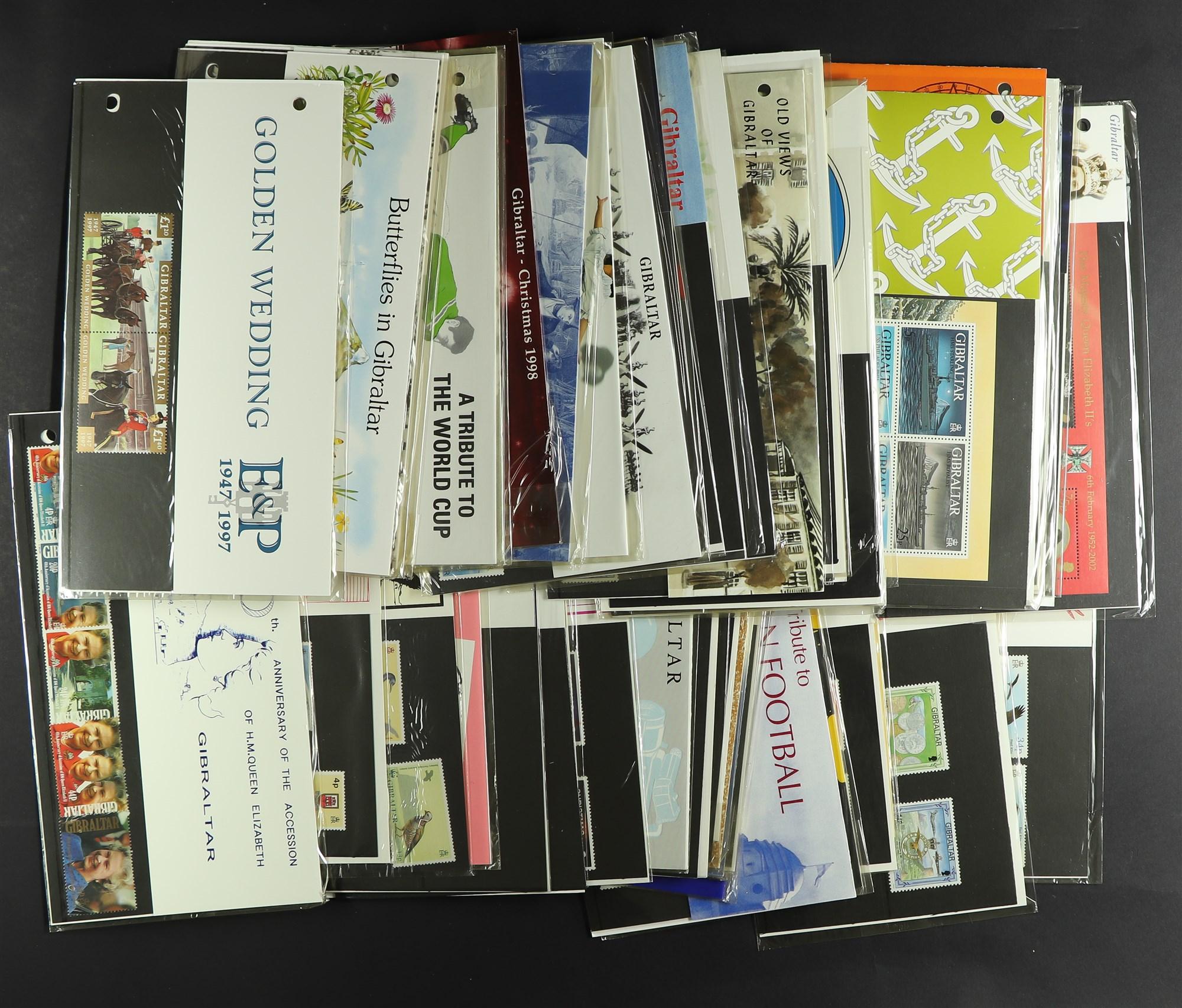 GIBRALTAR 1991-2002 PRESENTATION PACKS, incl. 1993-1995 Warships m/s's, 1993 Architecture original - Image 2 of 2