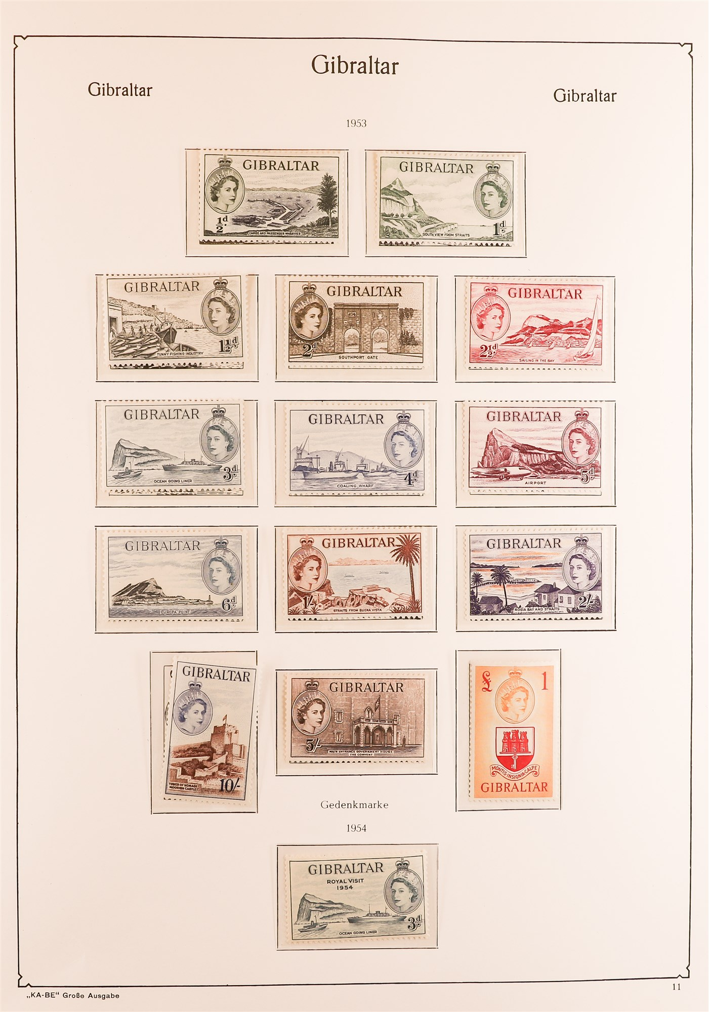 GIBRALTAR 1953-89 collection in a KA-BE album, mint incl. 1953-59 set, much of later is never hinged