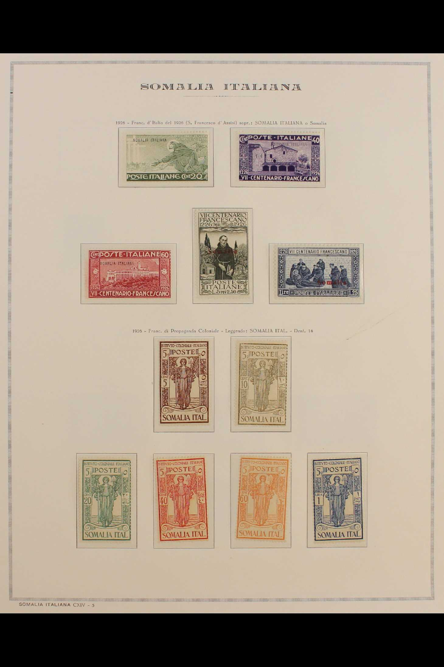ITALIAN COLONIES SOMALIA 1922-1940 fine mint collection incl.1922 surcharged set, 1923 Fide set NHM, - Image 6 of 18