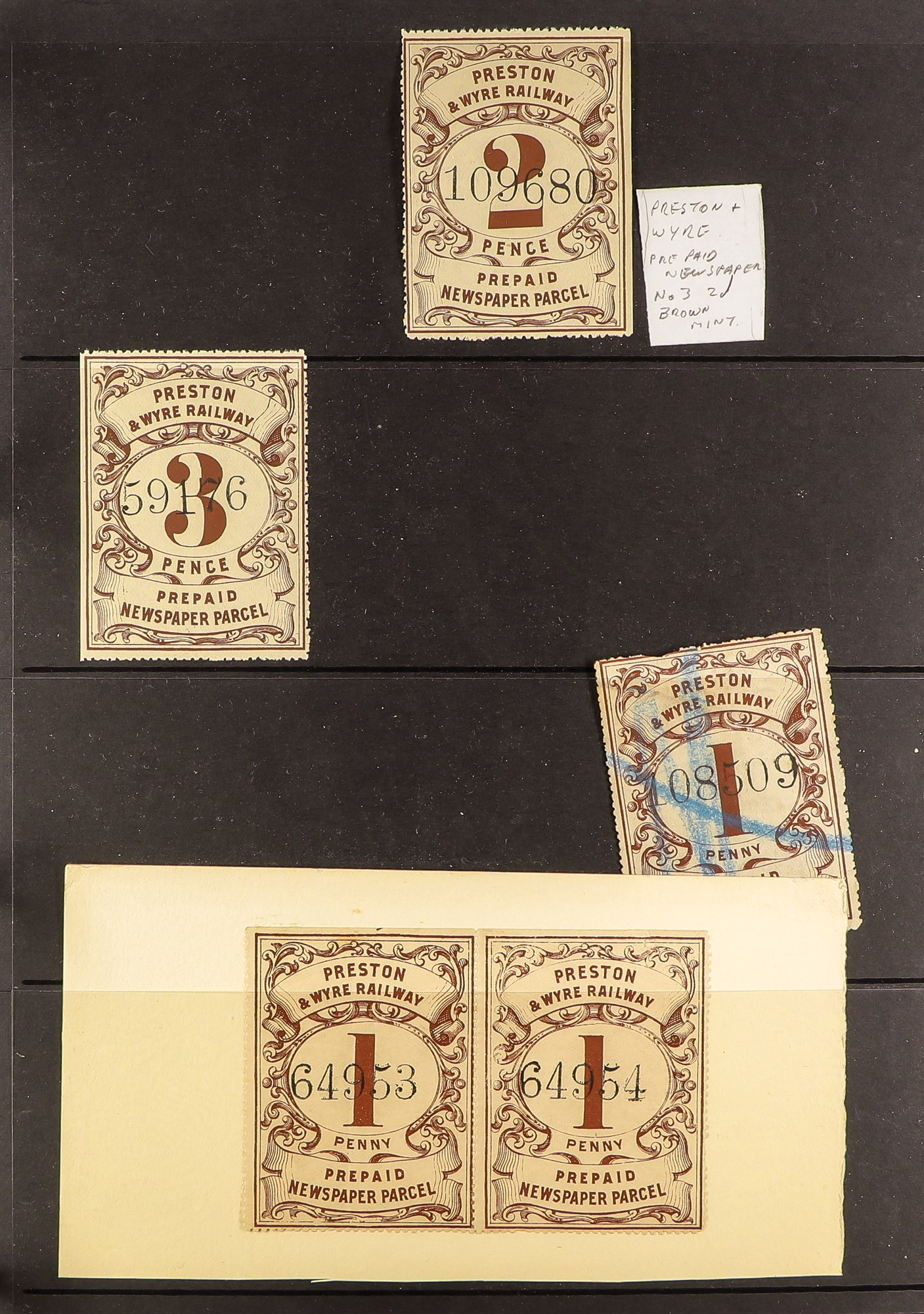 GREAT BRITAIN RAILWAY LETTER AND NEWSPAPER STAMPS 1890's-1940's COLLECTION in two albums, mint and - Image 21 of 24