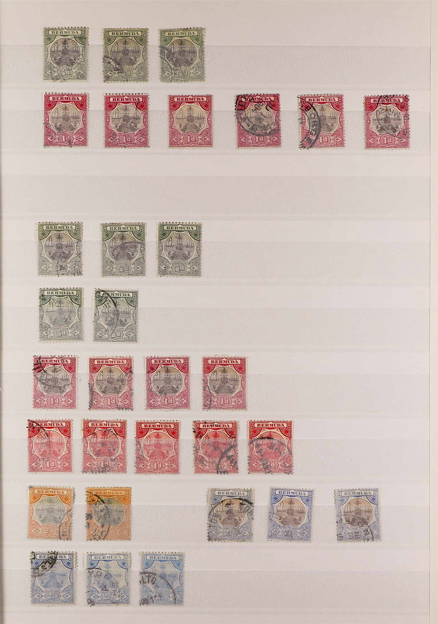 BERMUDA 1865-1952 used collection incl. 1865-1903 CC Wmk to 1s, 1883-1904 CA Wmk to 1s, 1901-10 - Image 3 of 9