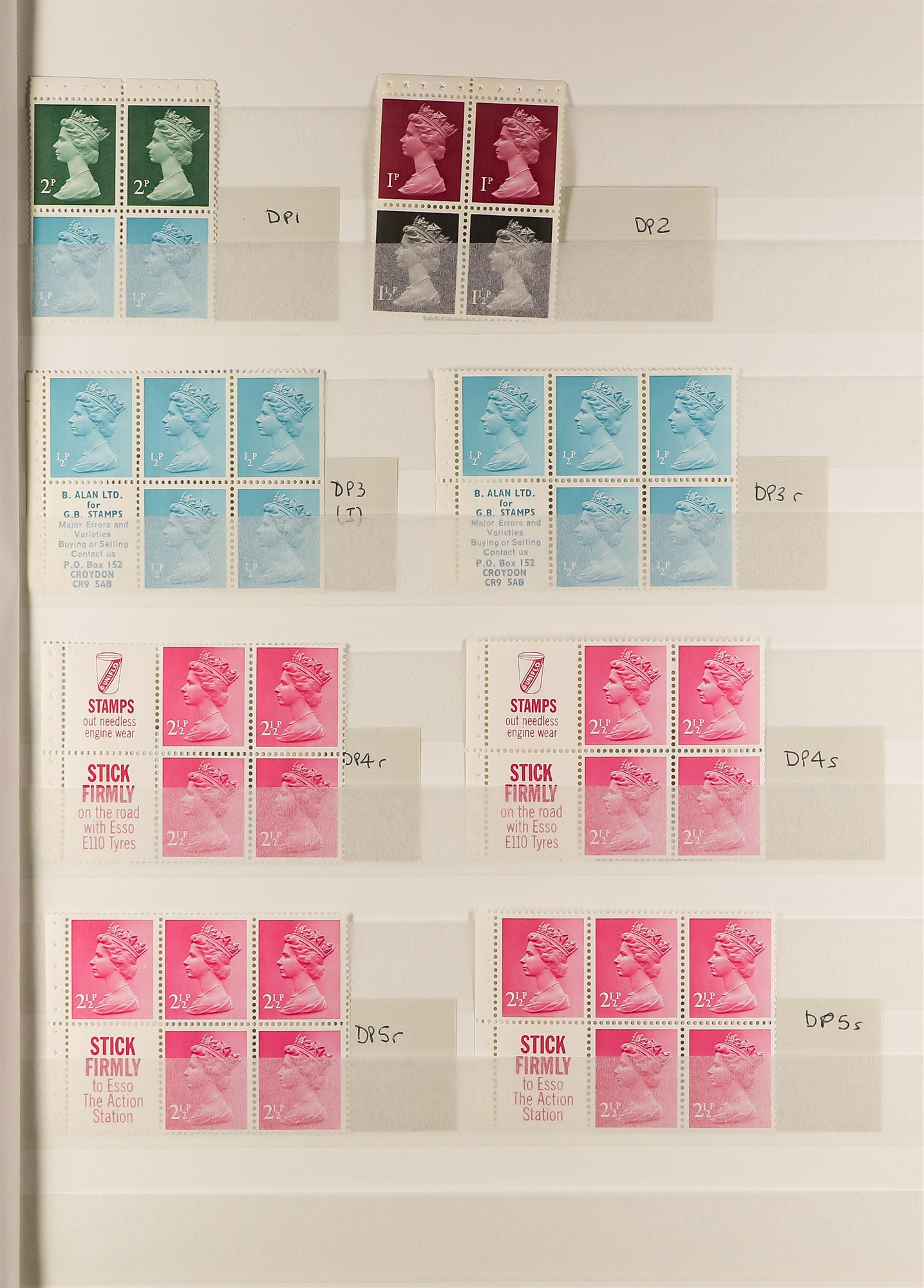 GB.ELIZABETH II MACHIN STITCHED BOOKLET PANES all different and with generally good perfs. (48