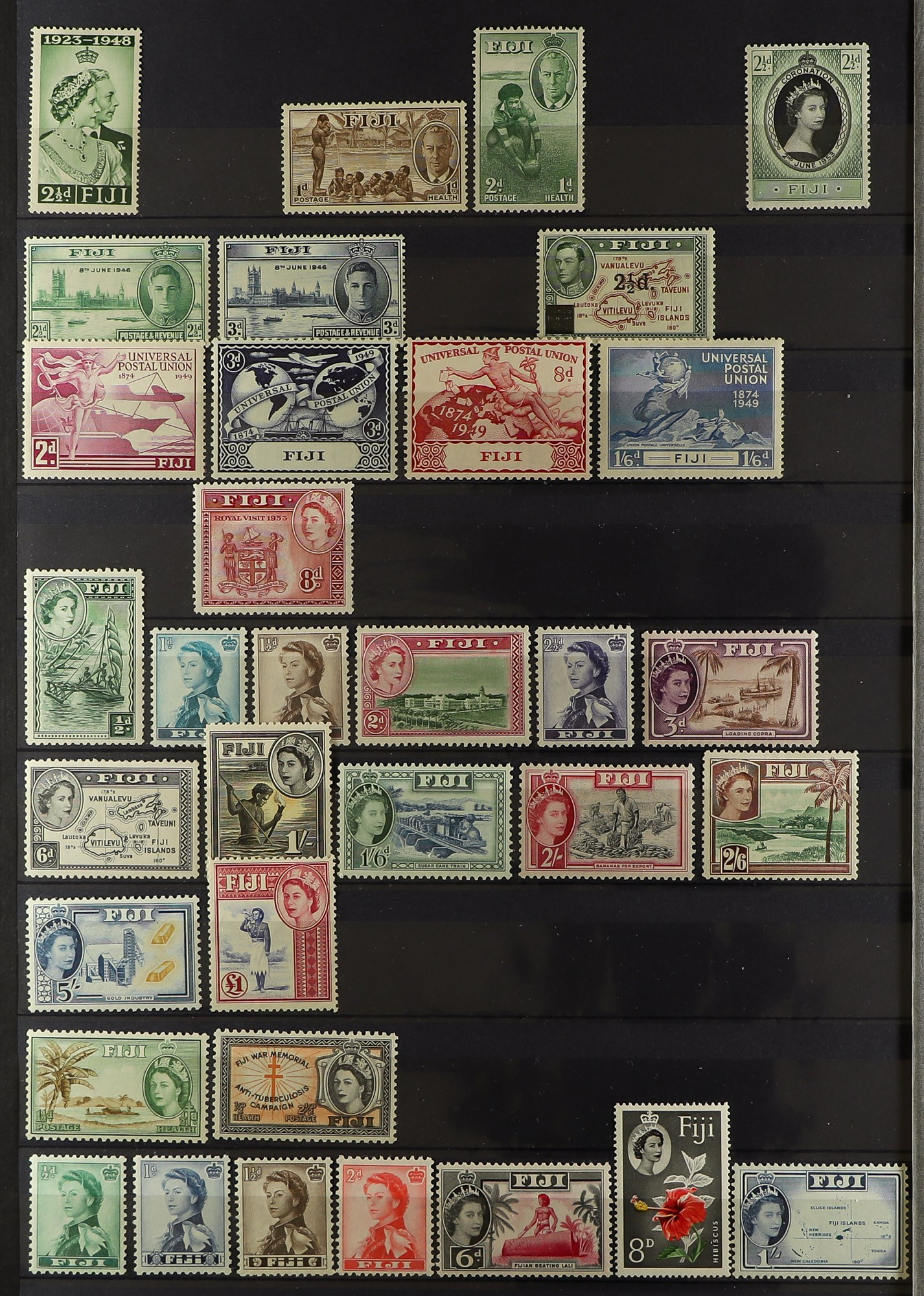 FIJI 1903-70 FINE MINT COLLECTION incl. 1903 set to 5d (excl. ½d), 1904-09 ½d & 1d, 1906-12 to 2½ - Image 5 of 9