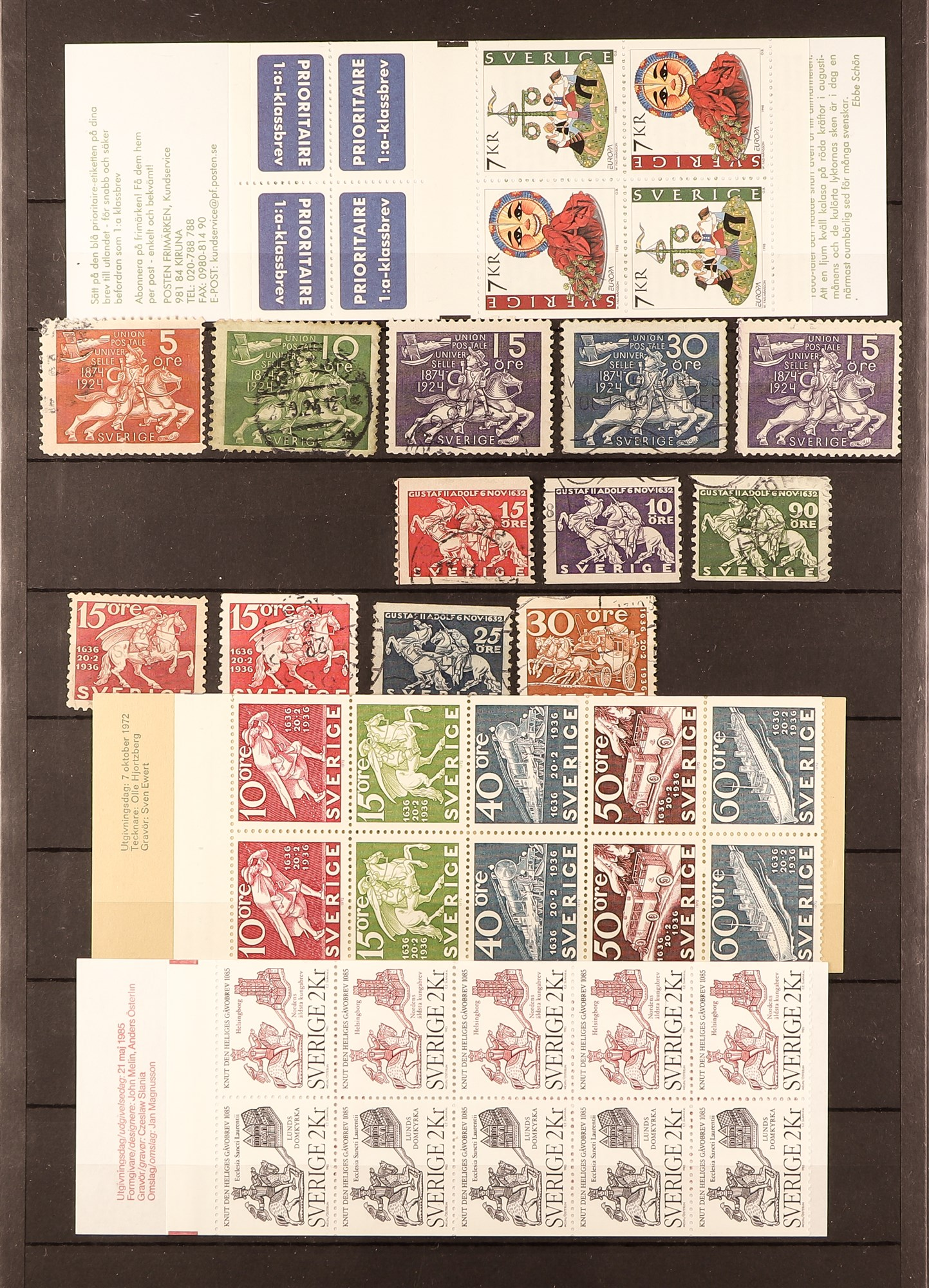 TOPICALS HORSES OF SWEDEN 1920's-90's mint and used (mostly never hinged ) collection incl. booklets