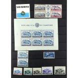 TOPICALS HORSES OF SAN MARINO 1950's to 2000's mainly never hinged mint with sets, couple of