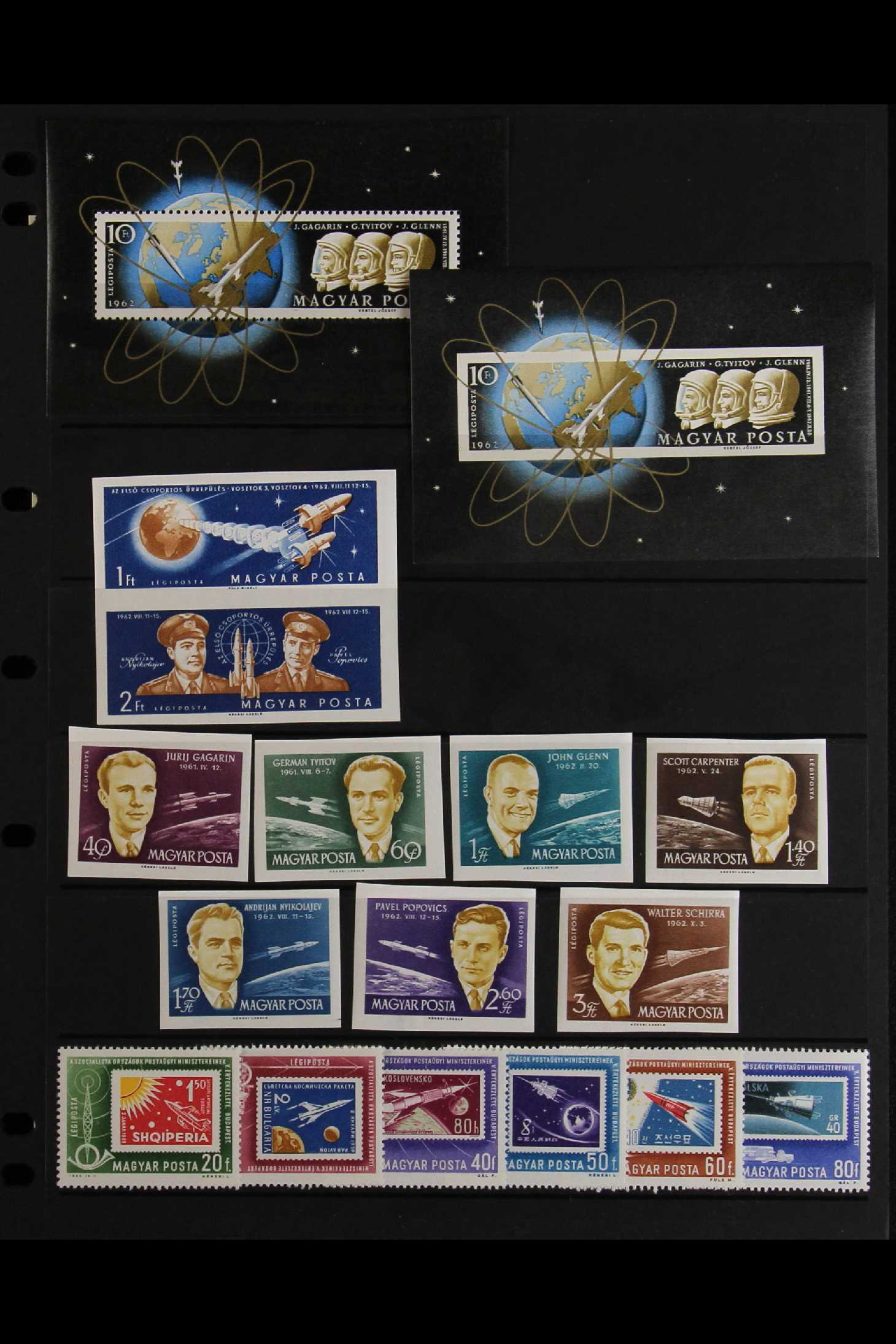 HUNGARY 1959-65 NHM SPACE TOPICAL COLLECTION OF HUNGARY 1959-65 never hinged mint, perf & imperf - Image 3 of 4