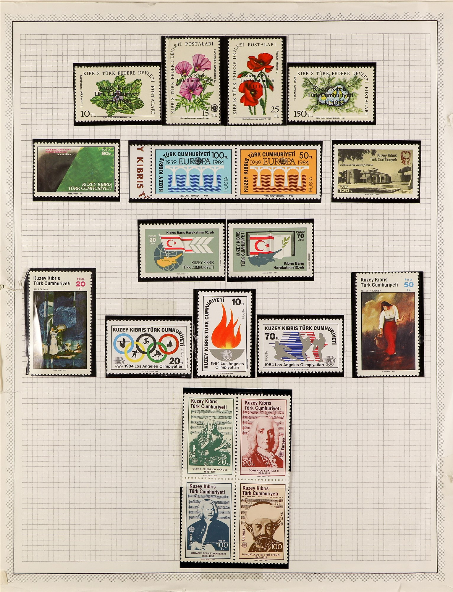CYPRUS TURKISH CYPRIOT POST 1976-1985 almost complete never hinged mint collection, with a few - Image 2 of 2