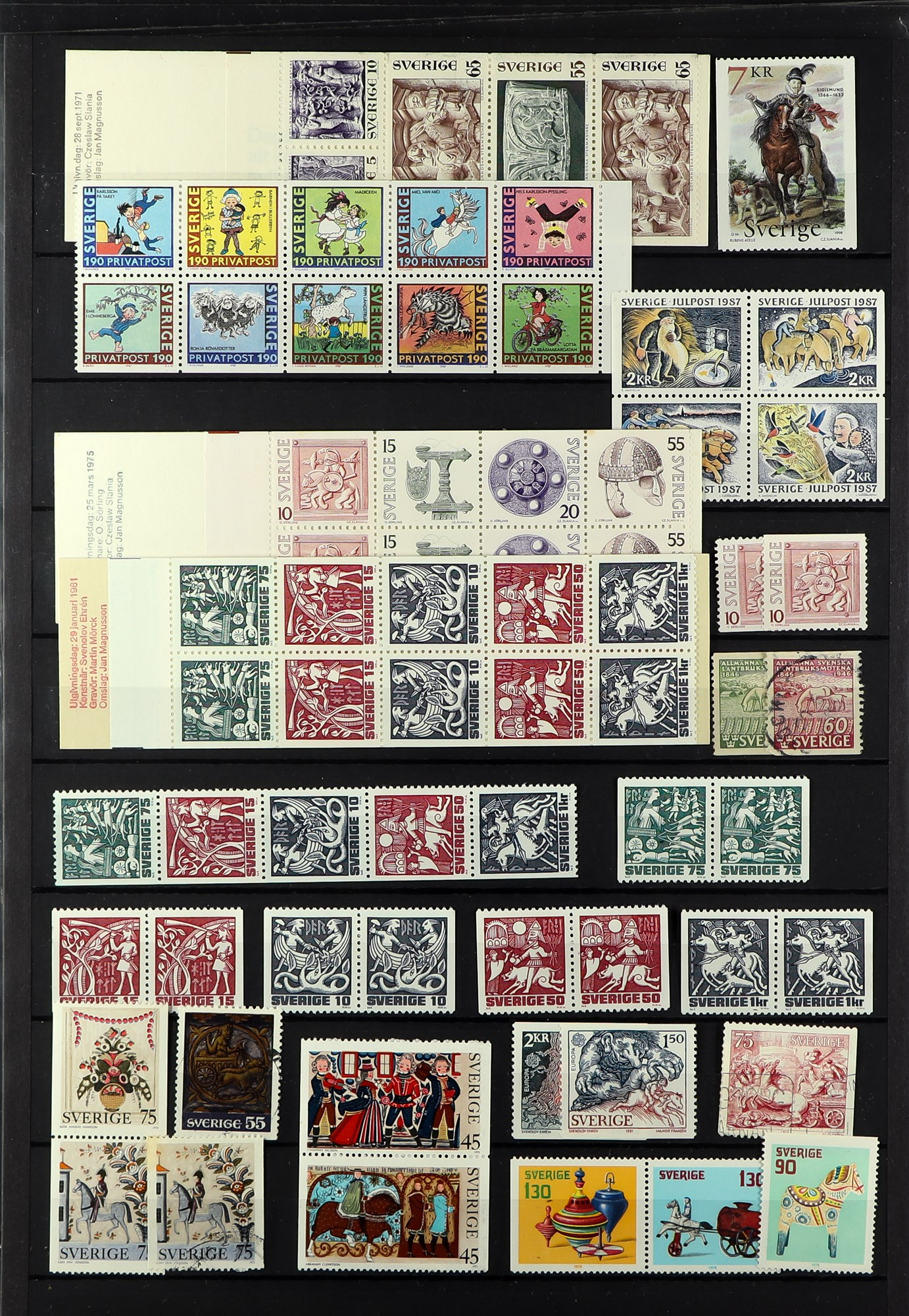 TOPICALS HORSES OF SWEDEN 1920's-90's mint and used (mostly never hinged ) collection incl. booklets - Image 2 of 2