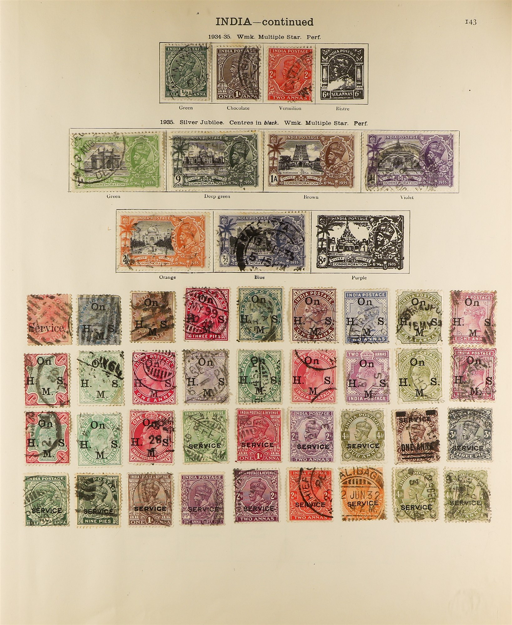 COLLECTIONS & ACCUMULATIONS BRITISH EMPIRE IN A NEW IDEAL ALBUM to 1935, incl. Great Britain 1840 1d - Image 3 of 6