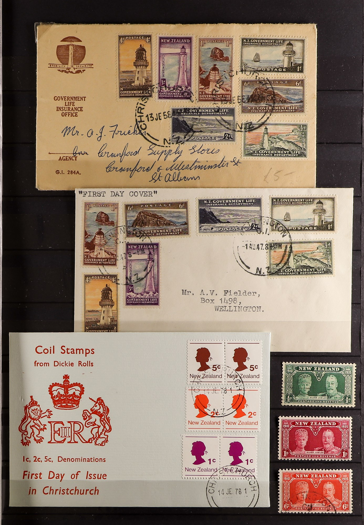 """NEW ZEALAND QV-1990'S USED COLLECTION includes 1929 1d Anti-TB, 1934 7d """"Trans-Tasman"""" opt, 1935 - Image 2 of 8"""