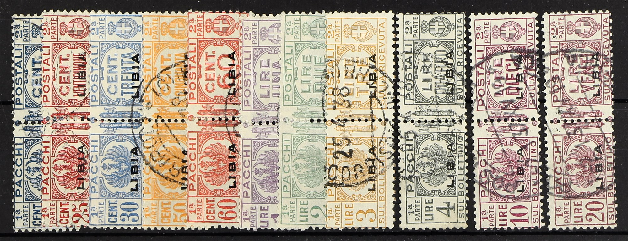 ITALIAN COLONIES LIBYA 1927-1937 Postage Due set complete, Sass S68, very fine used. Cat €3500 (£