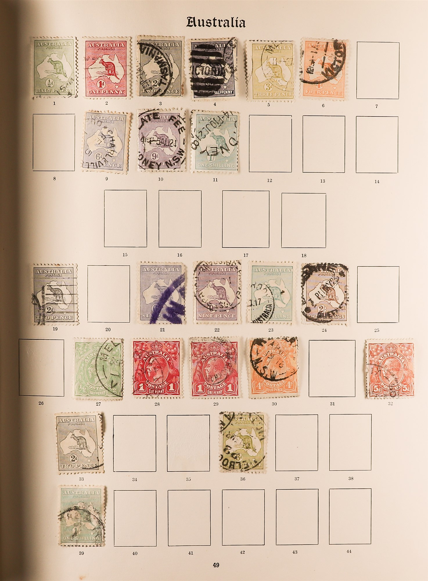 COLLECTIONS & ACCUMULATIONS BRITISH COMMONWEALTH IN A PAIR OF IMPERIAL ALBUMS TO 1935 with - Image 3 of 16