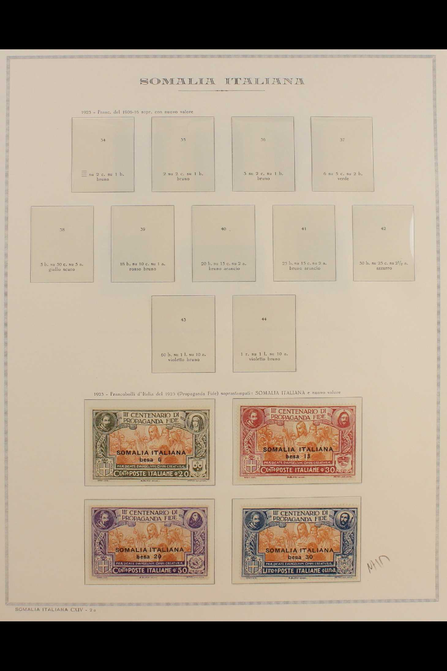 ITALIAN COLONIES SOMALIA 1922-1940 fine mint collection incl.1922 surcharged set, 1923 Fide set NHM, - Image 2 of 18