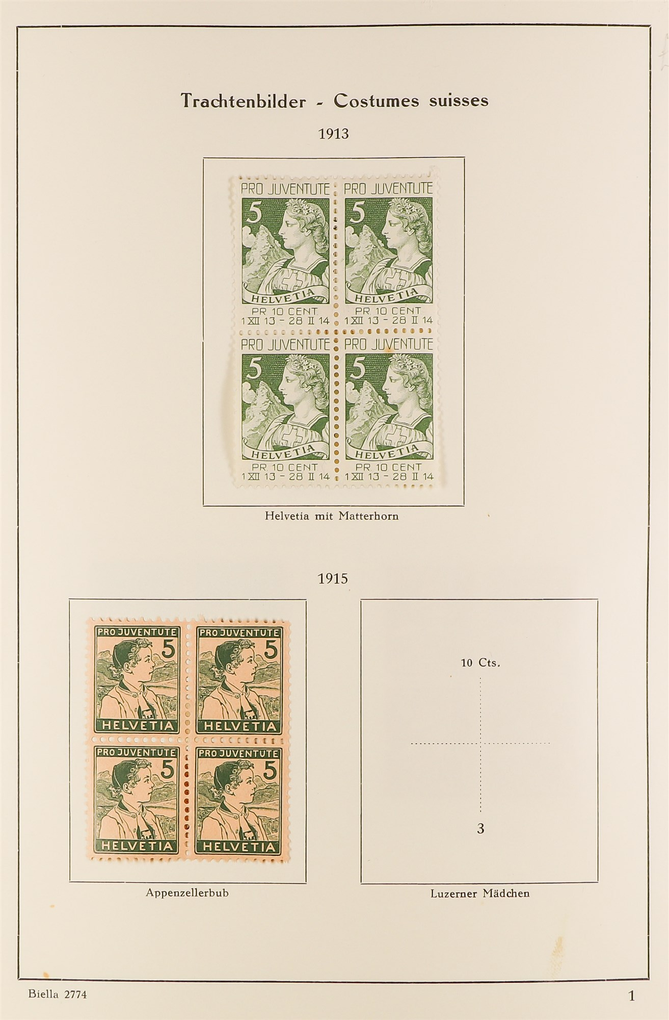 SWITZERLAND 1913-57 PRO JUVENTUTE collection of fine mint/never hinged blocks of four, S.T.C. £1580.